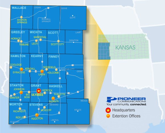 Pioneer Communications Coverage Map